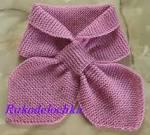 Вязание шарфика спицами для малышей