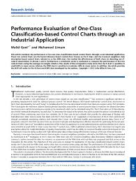 Pdf Performance Evaluation Of One Class Classification