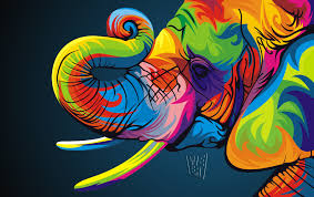 Astonishing Ideas Colorful Animal Paintings Art Spire Source D