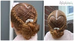 Basket Woven Heart Updo Holiday Hairstyle Opsteekkapsel Met Geweven Hart