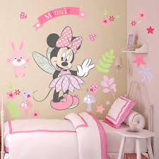 minnie mouse wall stickers removable vinyl decal girls nursery art mural decor on cute nursery wall art with baby girls nursery wall d cor ebay