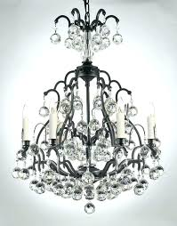 wrought iron crystal chandelier traditional