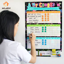 Us 28 0 Kids Reward Stickers Magnetic Reward Chart Wall Stickers For Child Calendar Fridge Magnets Dry Erase Board Home Weekly Planner In Fridge