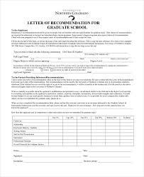 Letter of Re mendation For Graduate School