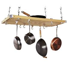 Kitchen Ceiling Hanging Rack Kitchen Accessories Traditional Black Hanging Pot Rackaged Wooden