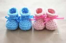 Crochet Booties Pattern Simple Crochet Newborn Baby Booties Pattern Repeat Crafter Me