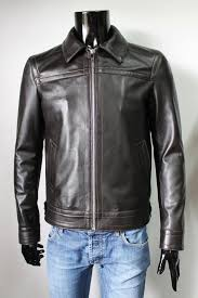 s men clothing faditaly italian handmade genuine lambskin leather jacket slim fit