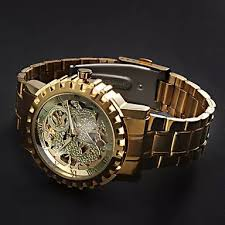 aliexpress com buy quamer watch hollow out automatic self wind aliexpress com buy quamer watch hollow out automatic self wind watches men luxury gold color relogio masculino full stainless steel watch hot from