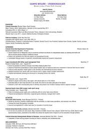 Traditional Resume Template Free Undergraduate Resume Example Examples of Resumes 73