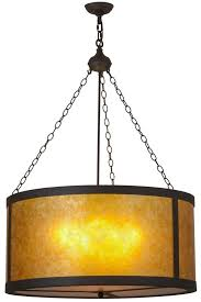 meyda 157853 32 w smythe craftsman amber mica pendant light