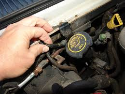 sparky s answers ford e air only blows out the defroster the next test point was under the passenger side of the dash looking up under the passenger side of the dash there are two vacuum hoses one black and the