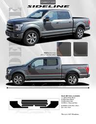 Details About Ford F 150 2015 2019 Sideline Hockey Side Vinyl Graphics Kit Decals 3m Stripes