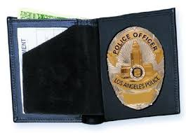 Leather Bi-fold Badge - Dress Wallets Strong Off 44