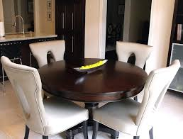 medium size of classic dinette sets with oak round table and white leather chairs in small