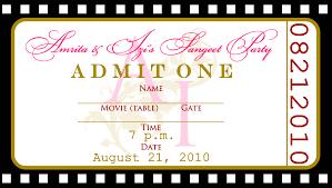 free ticket birthday invitations great free printable birthday invitation