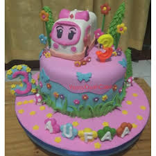 Kue Ulang Tahun Tema Amber Policar Cake Amber Fondant Shopee