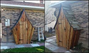 whimsical garden tool shed