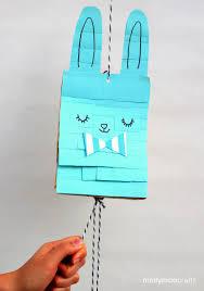 paper bag bunny pinata easter bunny craft