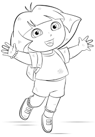Small Picture Dora coloring page Free Printable Coloring Pages