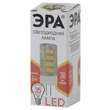 <b>Светодиодная лампа LED JC</b>-3,<b>5W</b>-<b>220V</b>-<b>CER</b>-<b>827</b>-<b>G4</b> ЭРА (диод ...