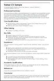 Personal Training Resume Examples Personal Training Resume Examples