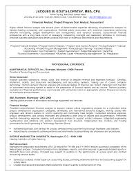 Senior Financial Analyst Resume Examples Of Resumes Sample Doc