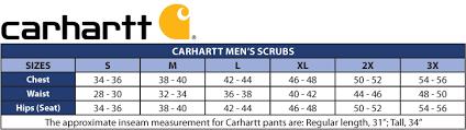 Carhartt Overall Size Chart Carhartt Scrubs Mens Short Ripstop Multi Cargo Pants