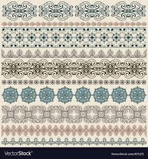 Border Patterns Custom Seamless Vintage Border Patterns Royalty Free Vector Image