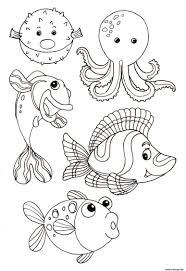 Coloriage Animaux Marin Jecolorie Com