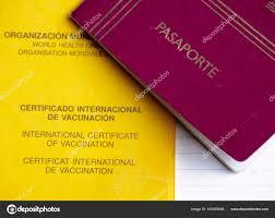 International certificate of vaccination and passport — Stock Photo ©  alexat25 #163078046
