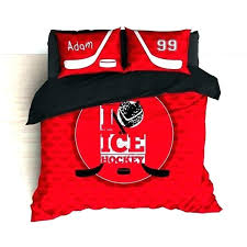 personalized baby bed sheets hockey ice comforter or duvet bedding custom sets for black