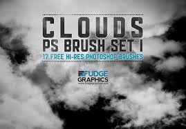 Cloud Photoshop Brushes Free Hi Res Clouds Photoshop Brush Set 1