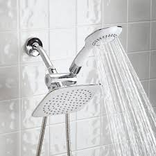 dual head shower massager with rainfall
