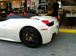 ferrari 458 white interior. white ferrari 458 italia spider on south beach interior