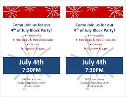 Block Party Flyers Templates Party Flyer Template For Word