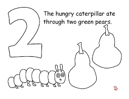 The Hungry Caterpillar Colouring Pages Very Hungry Caterpillar