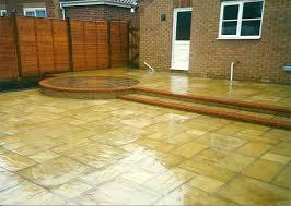 small split level back garden patio