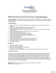 Material Handler Job Description For Resume Driver Warehouse Resume Sample Material Handler Download As Image 2