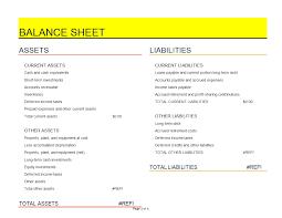 Financial Balance Sheet Template Financial Balance Sheet Excel Spreadsheet Template