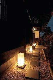 japanese outdoor lanterns garden lighting for the walkway along side of house gardening living australia