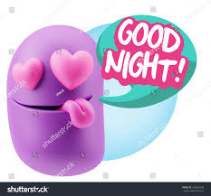 goodnight emoji 3d rendering emoji saying good night stock illustration 452026018