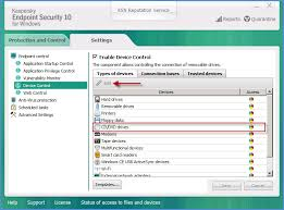 access to cd dvd drives via the device control component in  access to cd dvd drives via the device control component in kaspersky endpoint security 10 for windows in versions earlier than service pack 2
