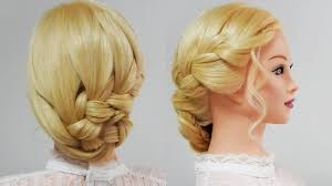成人式 卒業式 髪型簡単にまとめる三つ編み込みアップスタイル Youtube
