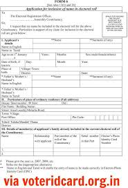 For co Card Online Apply Ownerletter Form Voter 6 Id