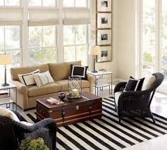 navy blue and white striped floor rug