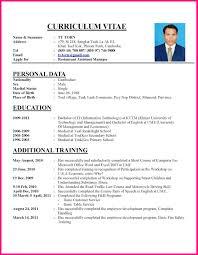 Curriculum Vitae Resume Sample Letters Handtohand Investment Ltd