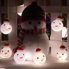 Indoor Snowman Lights Amazon Com Christmas String Nights Wedding Led Decorative
