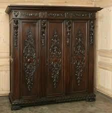 vintage antique furniture wardrobe walnut armoire. vintage italian renaissance walnut armoire x antique furniture wardrobe m