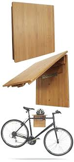 wall bike rack wood bamboo wooden fold away storage plans hanging