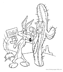 Small Picture Roadrunner Wily coyote color page Coloring pages for kids